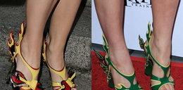 Płonące buty Prady na nogach gwiazd