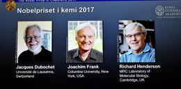 Nobel z chemii przyznany. Trzech laureatów podzieli się nagrodą
