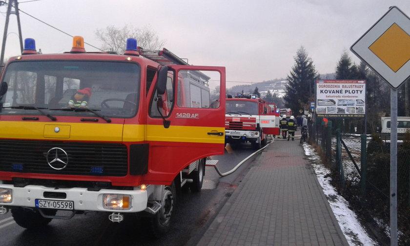 Milówka. Pożar domu jednorodzinnego przy ul. Jana Kazimierza