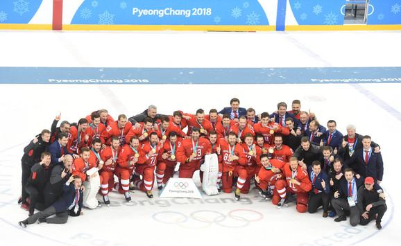 Hokejaška reprezentacija Rusije slavi olimpijsko zlato u Južnoj Koreji