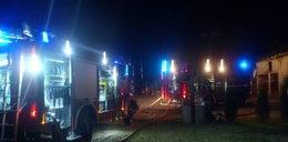 Nocny pożar stodół