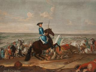 King Charles XII at the Battle of Narva on 19 November 1700. Artist: Krafft, David, von (1655-1724)
