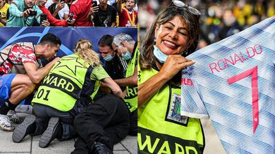 'Humble' Ronaldo goes back to check on steward after mistakenly hitting her with a shot