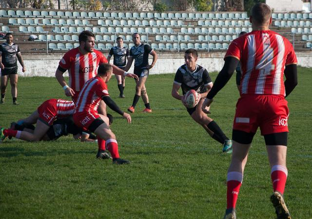 Ragbi 13 prodor Partizana na meču sa Crvenom zvezdom u finalu