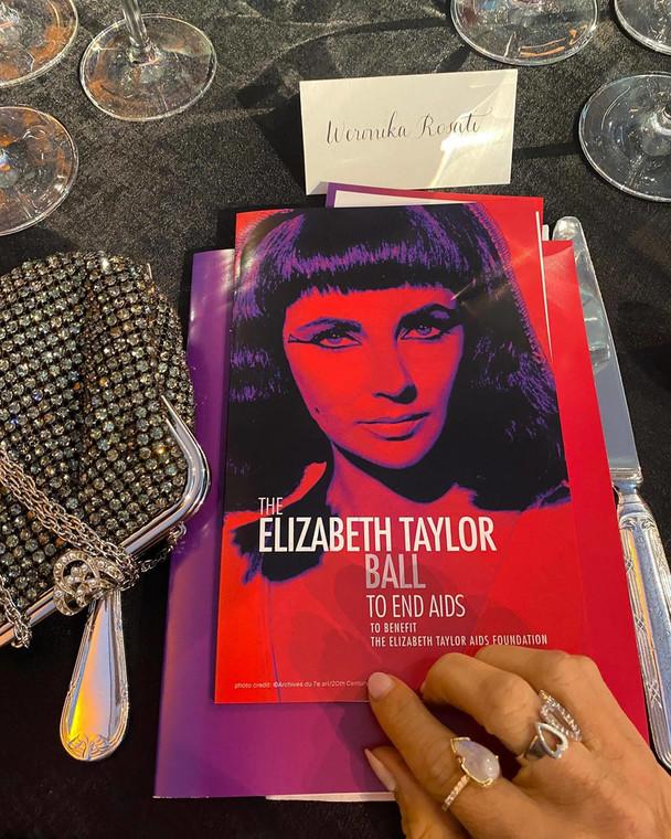Weronika Rosati at the charity gala of the Elizabeth Taylor Foundation