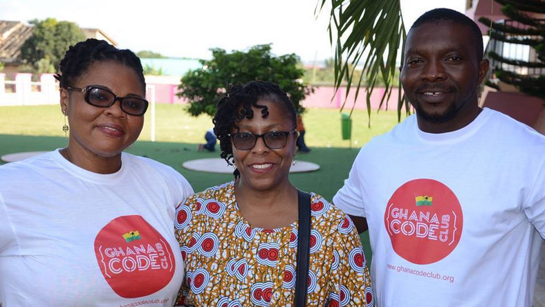 Ernestina Appiah (left) is founder of Ghana Code Club