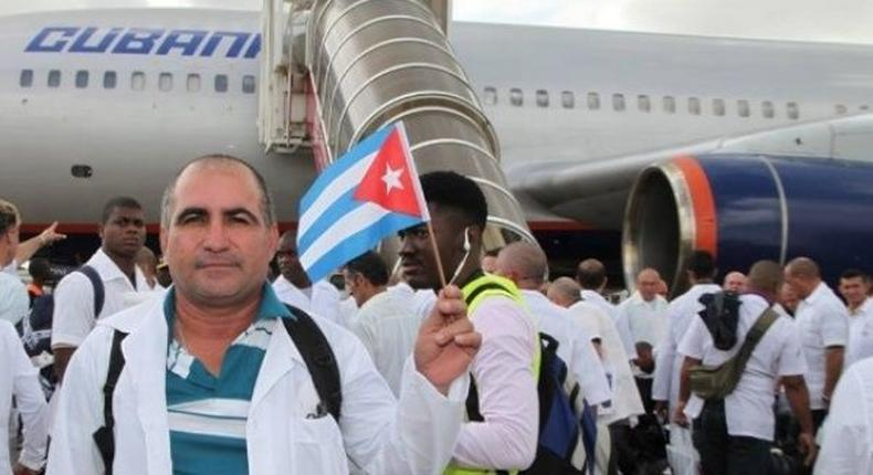 Cuban doctors arriving in Kenya after the two governments signed an exchange program deal (Twitter)