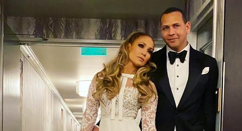 Jennifer Lopez and her partner Alex Rodriquez. [Instagram/Jlo]