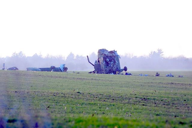 Helikopter je pao u Surčinu