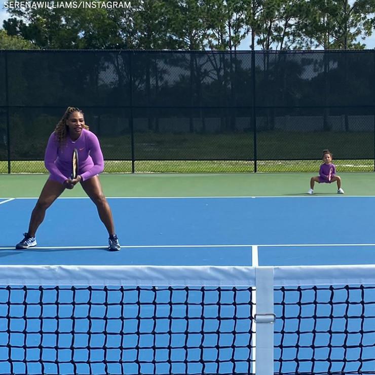 Serena Vilijams sa ćerkom Olimpijom