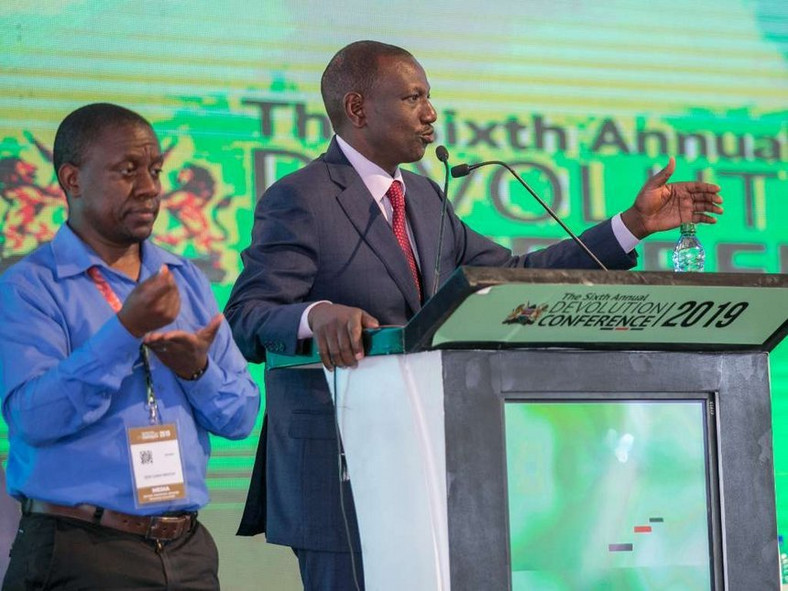 DP Ruto at the devolution conference