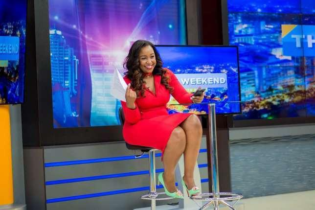 Betty Kyallo on the set of her new show on K24 (twitter)