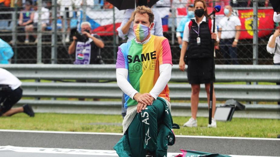 Sebastian Vettel protestuje przeciwko dyskryminacji społeczności LGBT na Węgrzech
