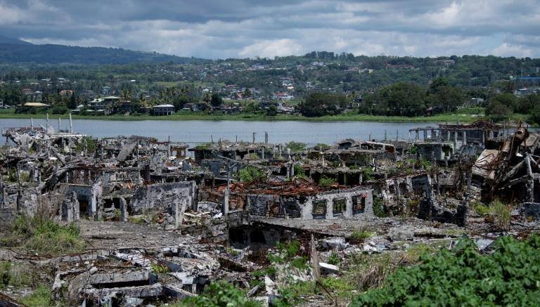 Two years after the Philippine city of Marawi was overrun by jihadists it remains in ruins with reconstruction 'painfully clow', according to the Red Cross