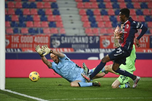 Detalj sa meča FK Bolonja - Lacio