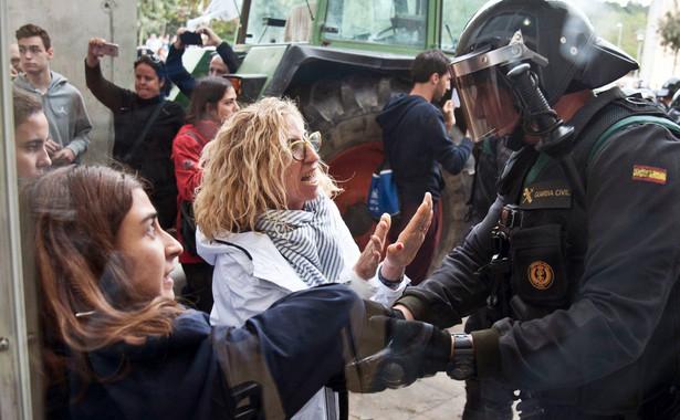 Starcia z policją w Hiszpanii