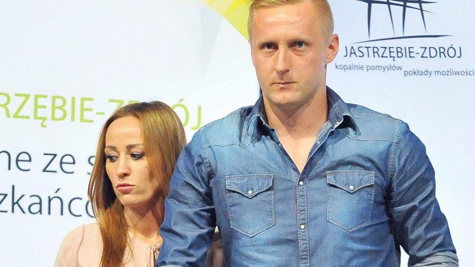 Kamil Glik i jego żona Marta