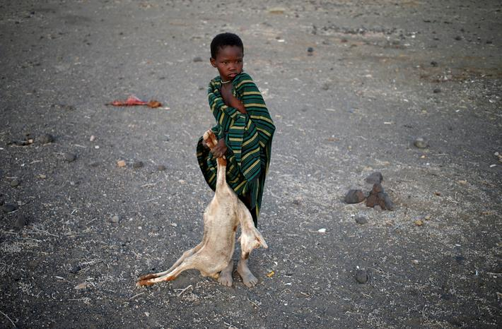 The Wider Image: Drought-hit Kenyans burn animal carcasses
