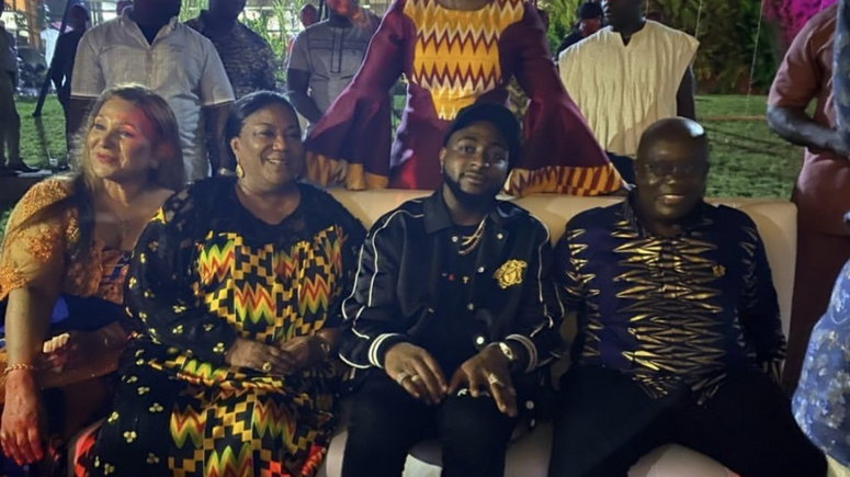 Davido meets Nana Addo at year of return party
