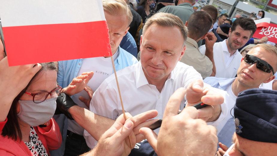 Andrzej Duda w Augustowie