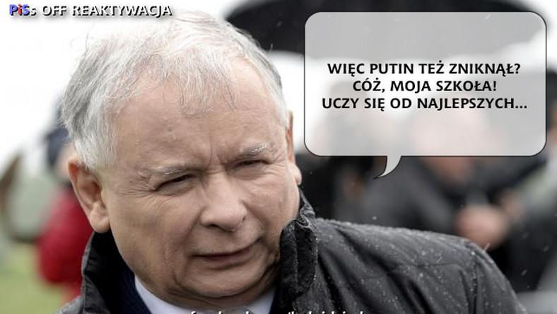 Władimir Putin po kilku dniach medialnej nieobecności, w końcu pokazał się publicznie. Jarosław Kaczyński nie ma wątpliwości, od kogo rosyjski prezydent zaczerpnął pomysł na chwilowe zniknięcie z oczu mediom.
