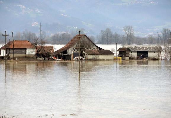 Poplavljena sela kod Požege
