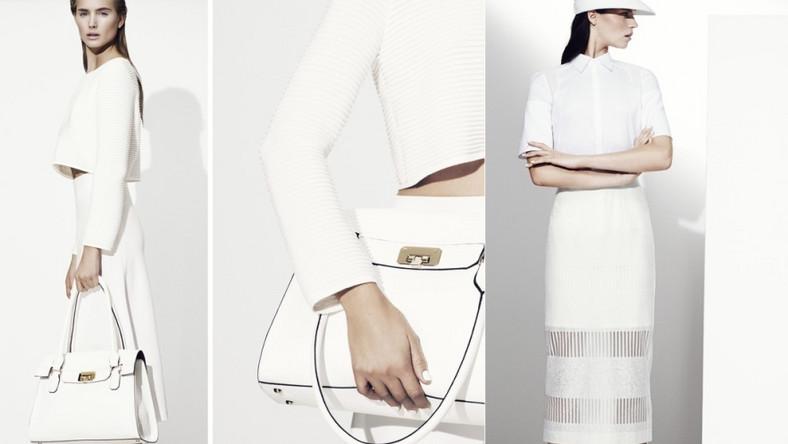 WHITE OUT: proste, czyste, harmonijne formy i efektowne detale w awangardowym, sportowym stylu to kwintesencja White Out. Ta szykowna kombinacja gładkich linii i miękkich, kaskadowych fasonów sięga po najmocniejszy trend kolorystyczny ostatnich sezonów – czystą biel.