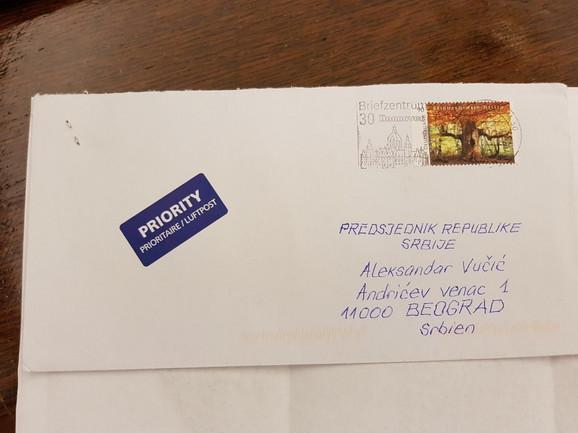Preteće pismo koje je dobio predsednik Srbije