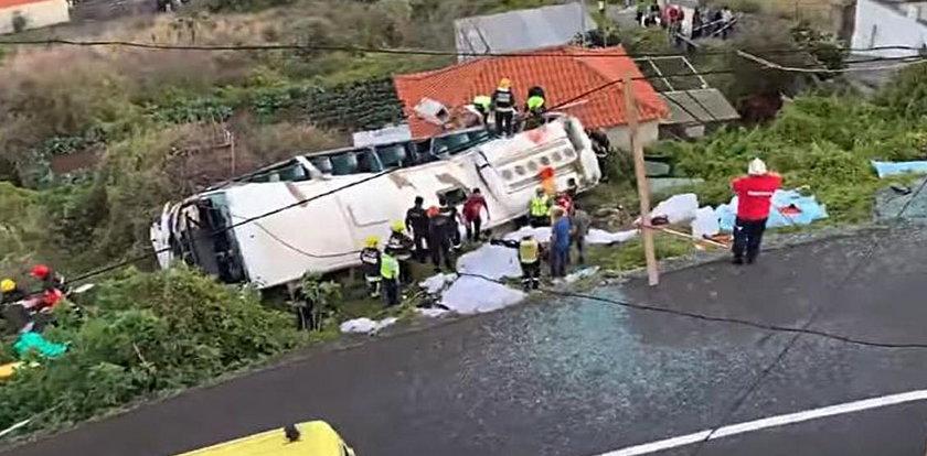 Wypadek autobusu pełnego turystów na Maderze. Są zabici i ranni