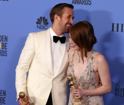 """Emma Stone oraz Ryan Gosling ze Złotymi Globami za """"La La Land"""""""