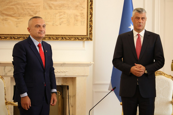 Hašim Tači sa albanskim predsednikom Ilir Metom