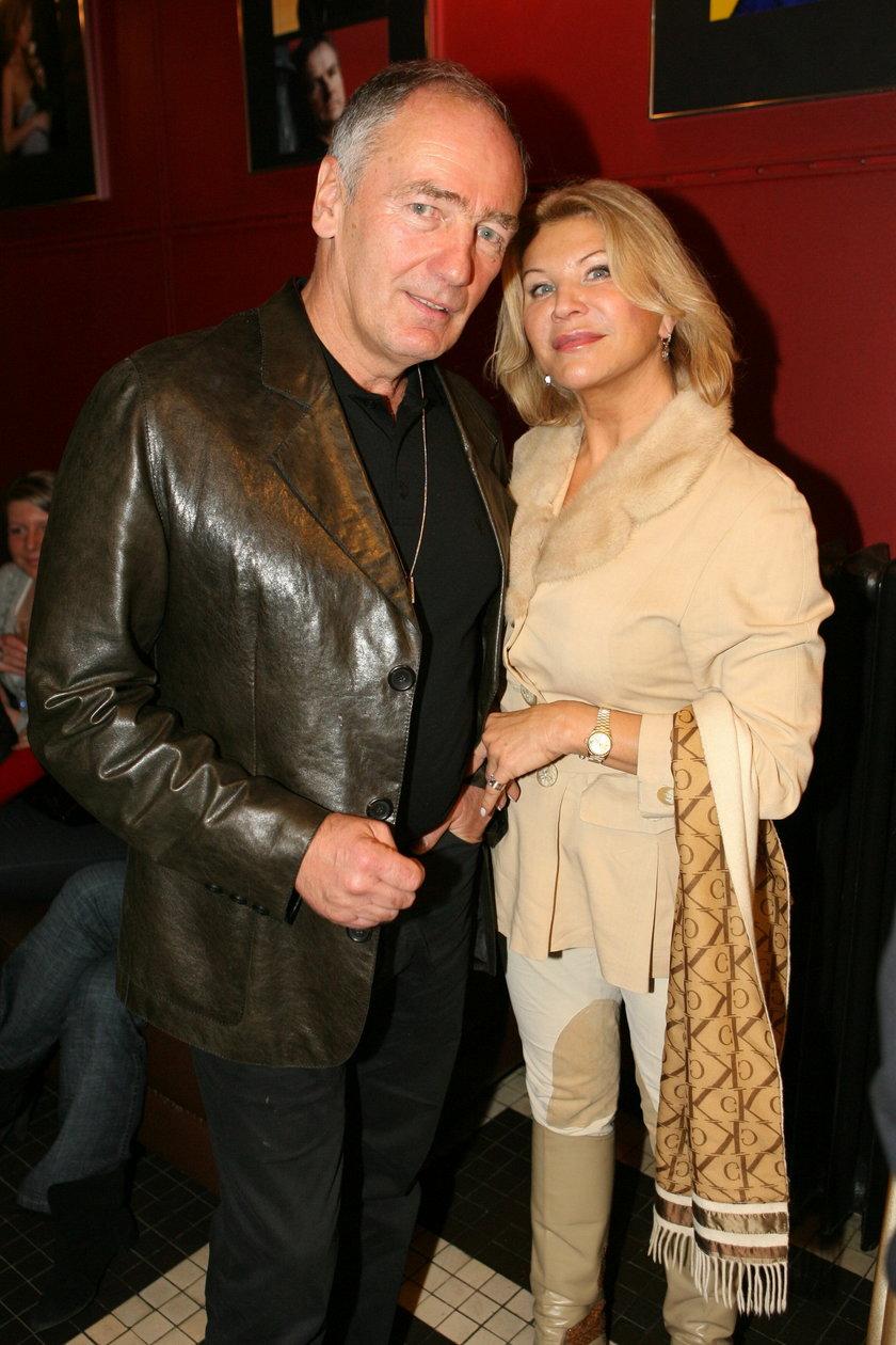 Karol Strasbuger z żoną Ireną