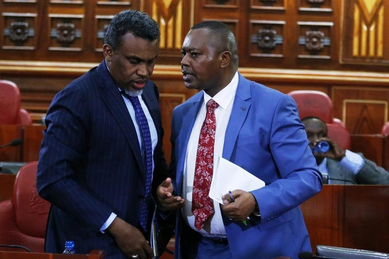 DPP Noordin Haji with DCI boss George Kinoti. The two are part of a multi-agency team investigating high level corruption casesKinoti