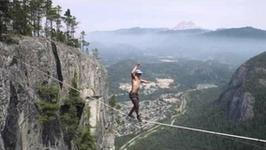 Szalony wyczyn - spaceruje 290 metrów nad ziemią