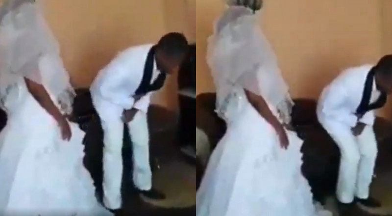 Groom can't kiss the bride as 'holy spirit' makes him speak in tongues (video)