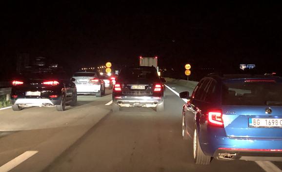 Gužva sinoć na auto-putu kod Batočine