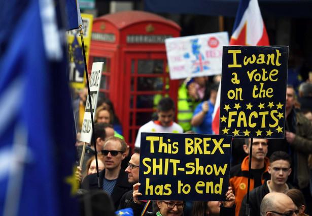 Protest przeciwko brexitowi