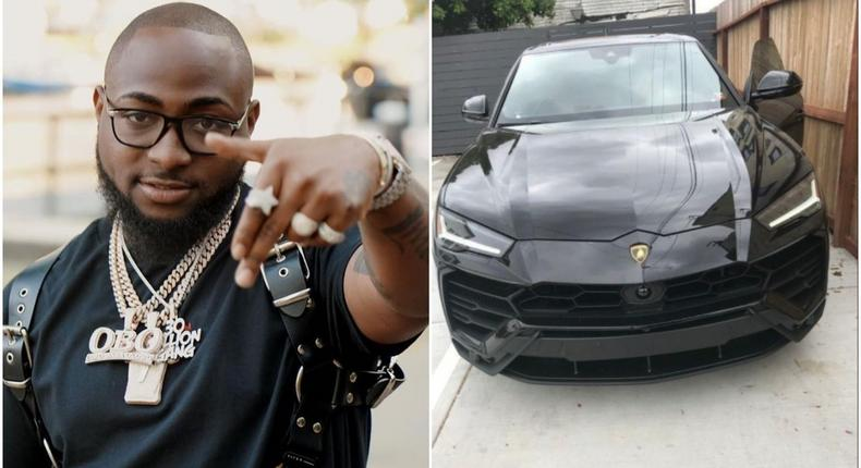 Davido has just taken the delivery of a 2019 Lamboghini Urus valued at N72 million. [Instagram/davidoofficial]