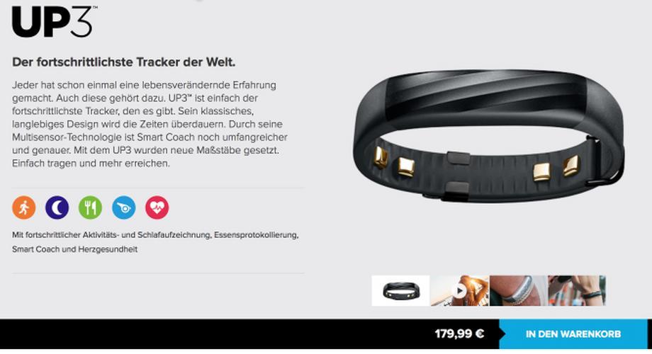 Marktstart: Jawbone UP3 jetzt in Deutschland verfügbar