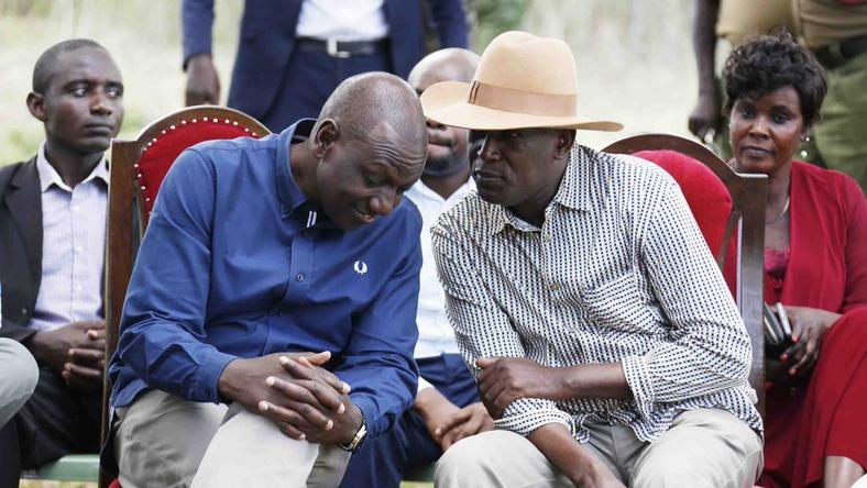 DP Ruto in a private conversation during his Migori tour