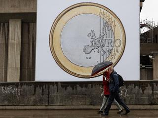 Euro artwork displayed in London