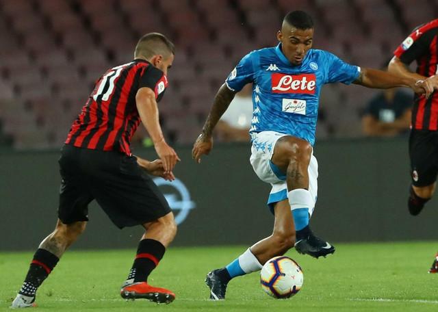 Napolijev Alan, asistent kod gola za pobedu, na meču sa Milanom