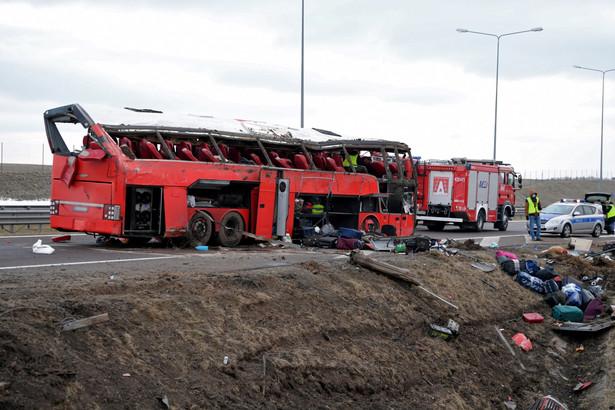 Wypadek na A4 w Kaszycach