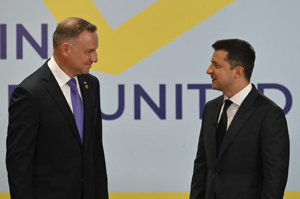 Wołodymir Zełenski i Andrzej Duda