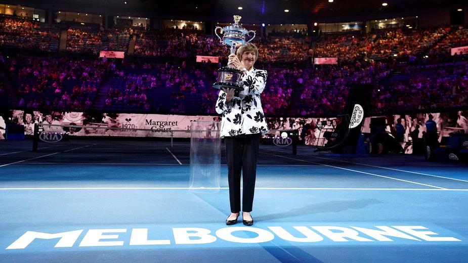 Margaret Court na kortach w Melbourne w 50. rocznicę jej Wielkiego Szlema