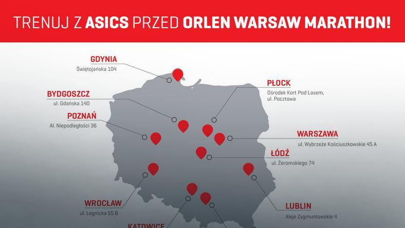 Trenuj z Asics przed Orlen Warsaw Marathon