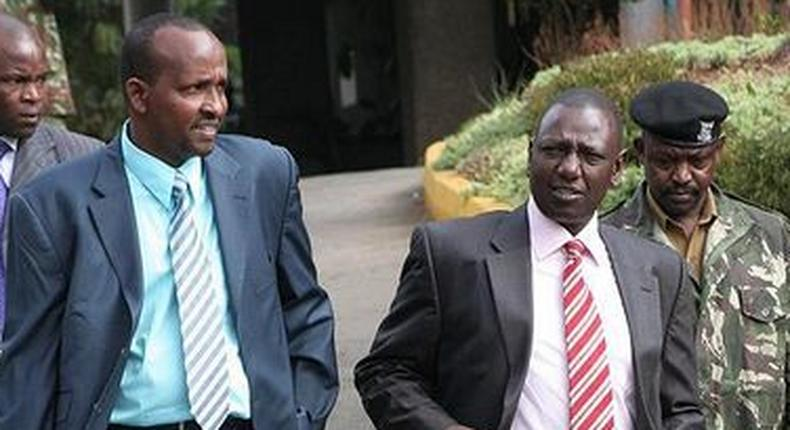 File image of DP Ruto and Aden Duale Duale has warned thatUhuru's close relationship with Raila will be the undoing of Jubilee while the DP has called for truce in Jubilee