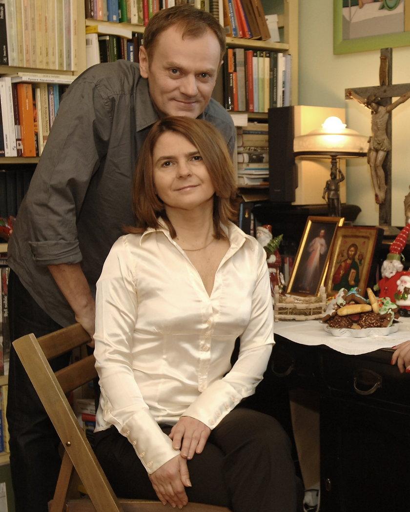 Donald Tusk i jego żona Małgorzata
