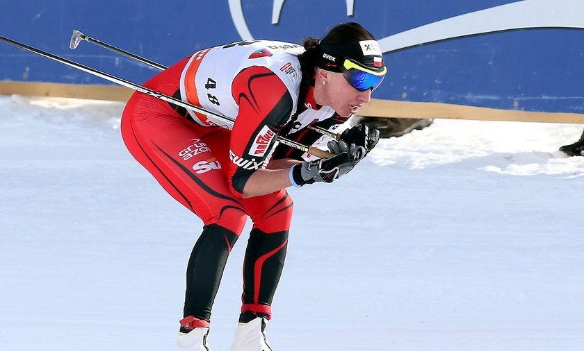 Justyna Kowalczyk w biegu w Davos
