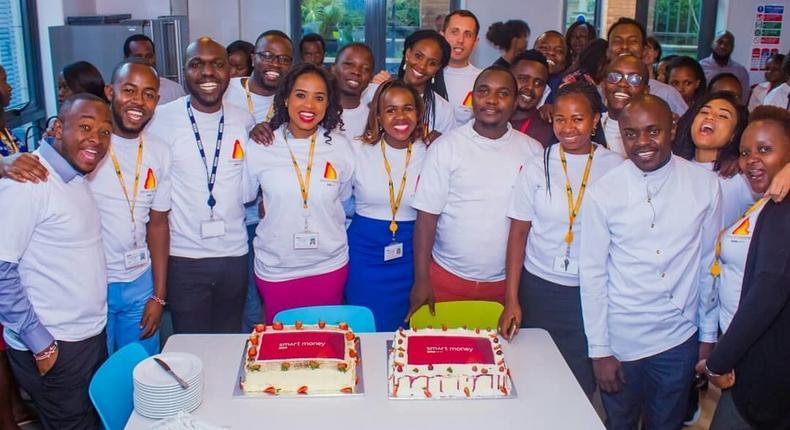 BBC's Maureen Nyukuri with her colleagues